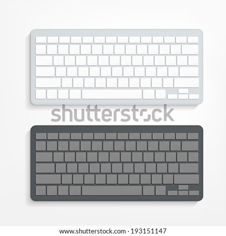 vector blank computer keyboard