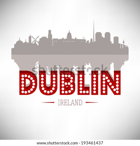 dublin ireland skyline vector