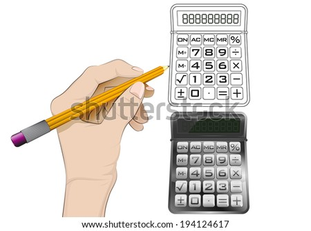 calculator as isolated human