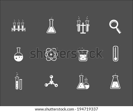 set of white science and