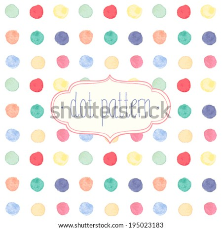 vector watercolor seamless dot