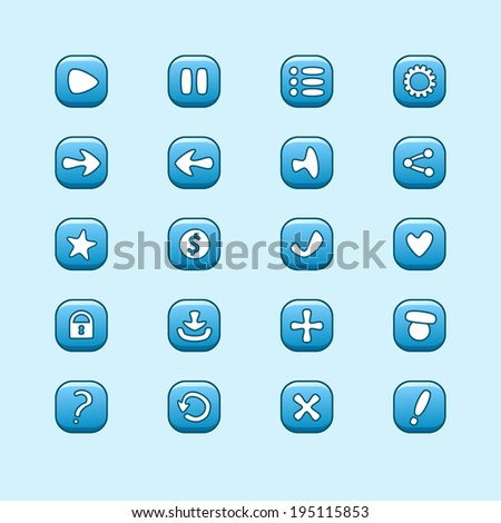set of mobile blue vector