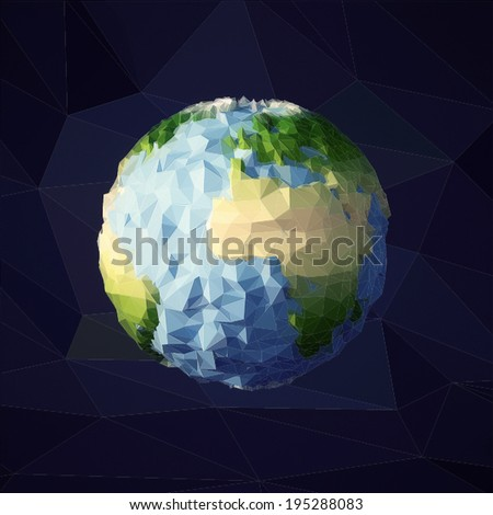 earth low poly vector