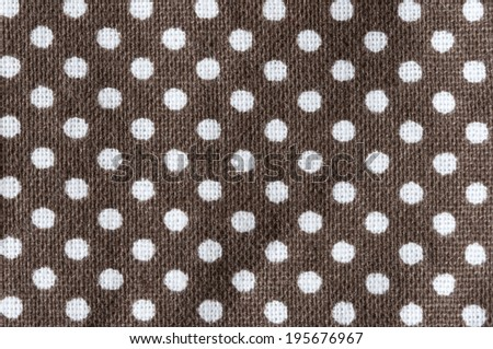 white polkadots on brown