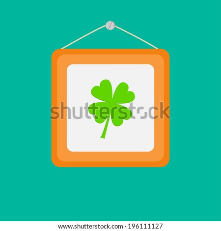 four leaf clover and picture