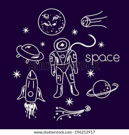 space vector white objects line