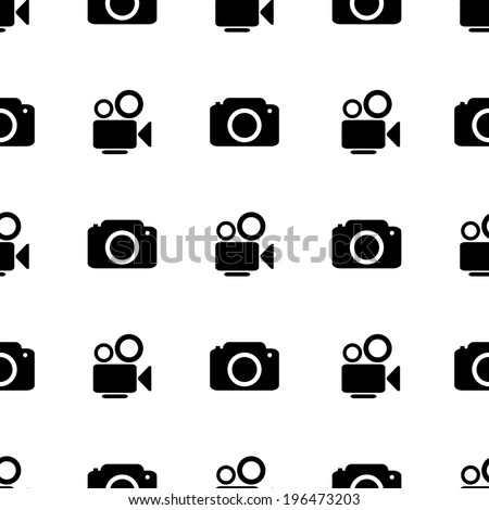 camera icon seamless vector