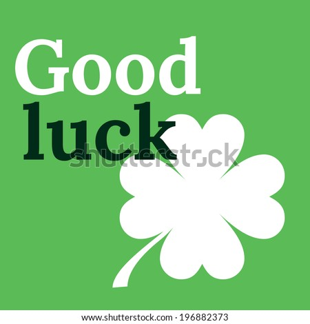 good luck card with clover