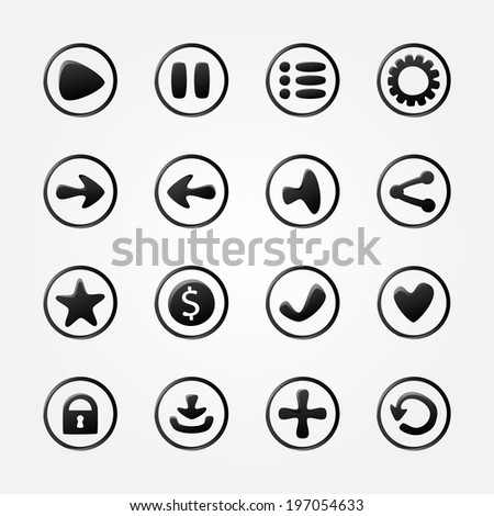 black vector mobile elements
