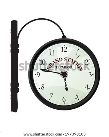 vintage railway station clock
