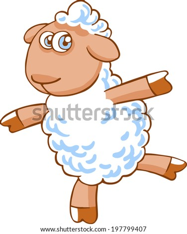 cute vector cartoon sheep