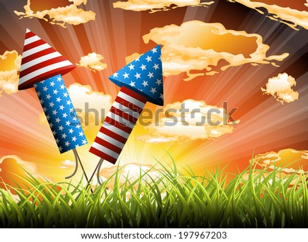 4th july vector illustration