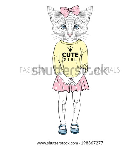 cat girl kid dressed up in