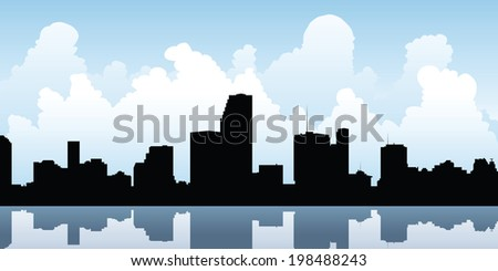 skyline silhouette of the city