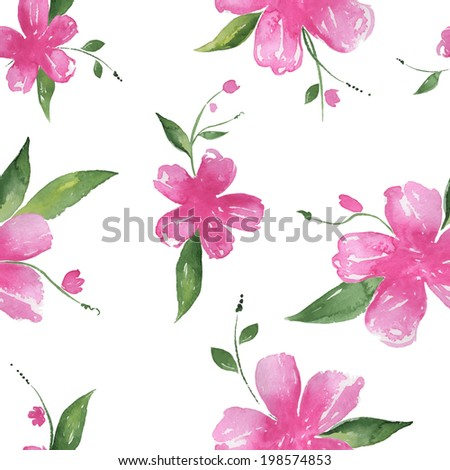 seamless vector pattern of pink
