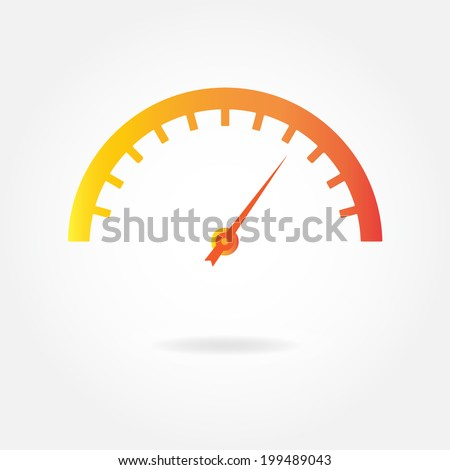 speedometer icon or sign car
