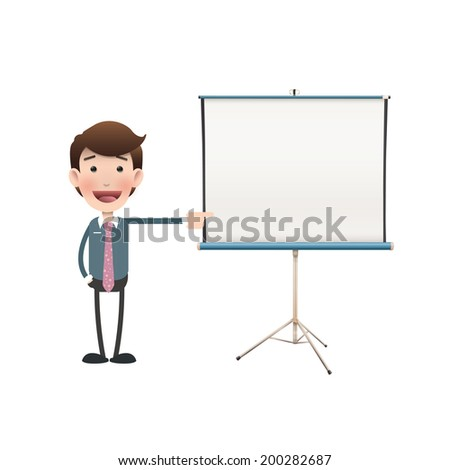 business people with projector
