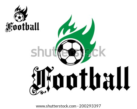 football or soccer emblem logo