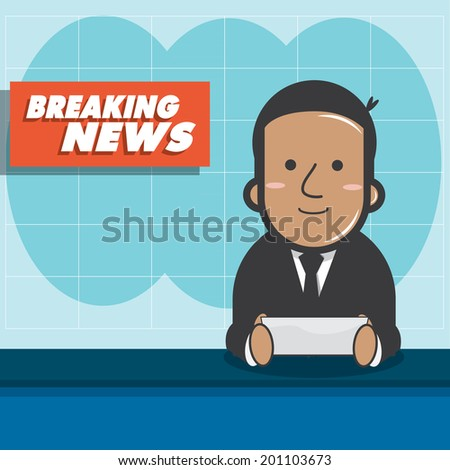 breaking news   news announcer