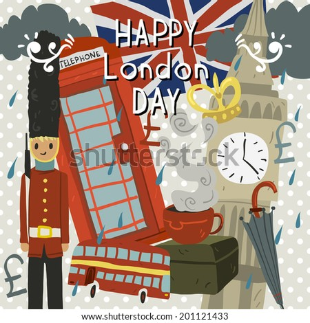 happy london day greeting card