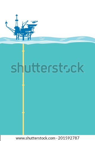offshore oil rig platform with