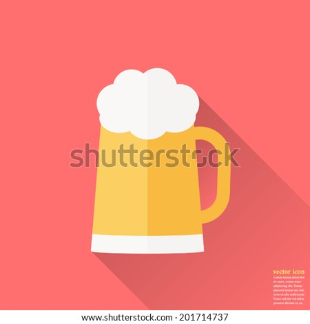 glass of beer icon  vector