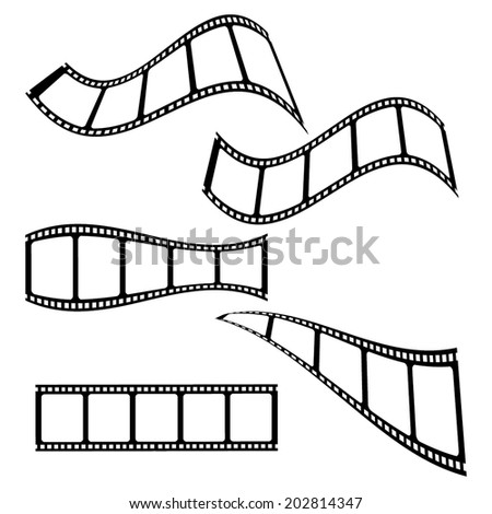 collection of blank cinema film