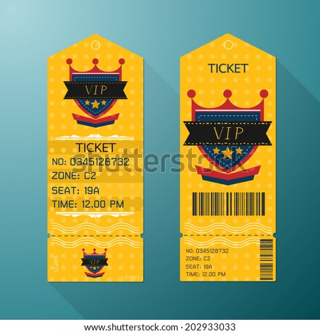 ticket design template retro