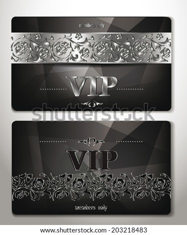 elegant vip cards with platinum