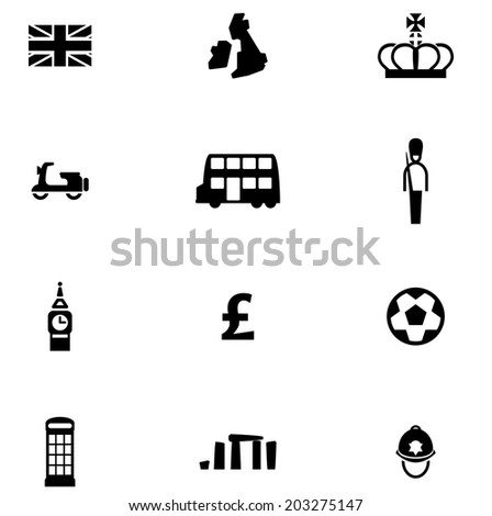vector file of british icon set