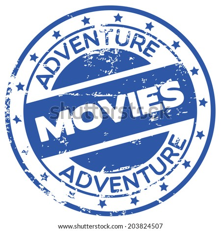 adventure movies rubber stamp
