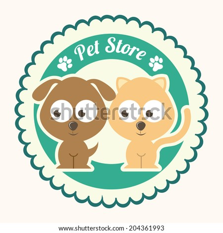 pets design over  white
