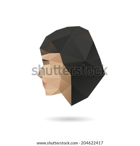 woman face silhouette  vector