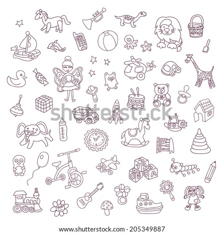 set of different vector toys