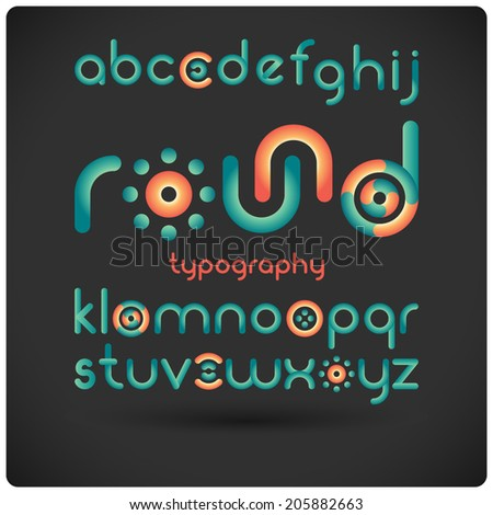 funny rounded modern type with