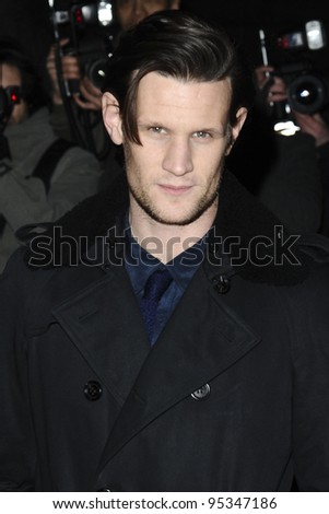 matt smith arriving for the