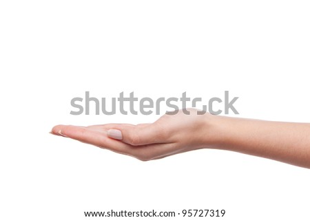 empty female woman hand holding