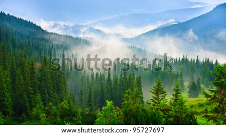 beautiful mountains landscape