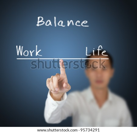 business man balance his work