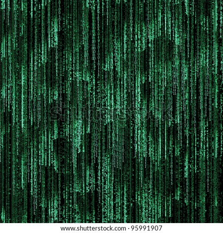 green binary code on black