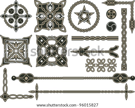 celtic traditional elements for