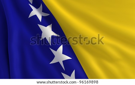 a flag of bosnia and
