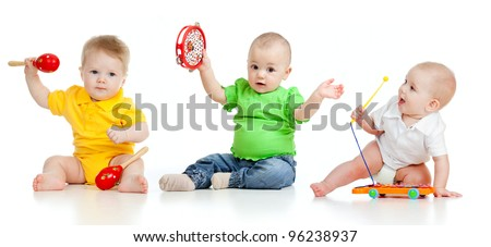 children playing with musical
