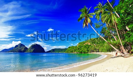beautiful tropical scenery   el