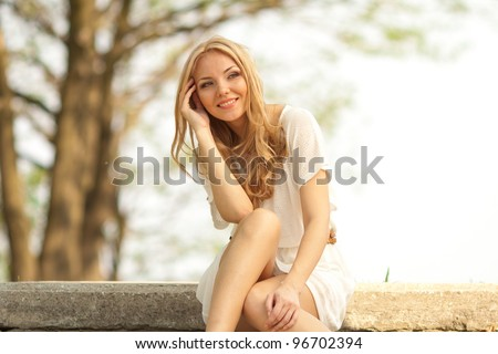 portrait of blond woman in