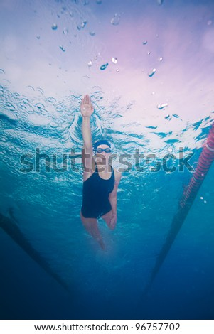underwater shoot of a