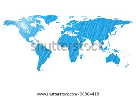 conceptual image of a world map