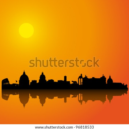vector background with rome