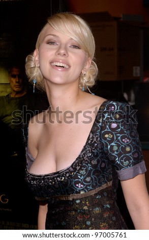 actress scarlett johansson at