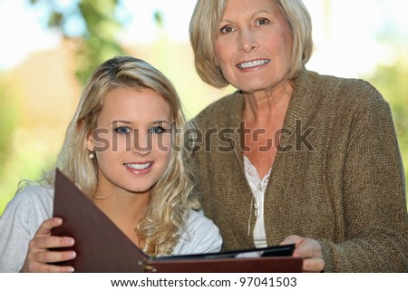 senior and her granddaughter